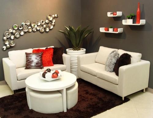 Ideas para aprovechar el espacio en una sala peque a - Esquineras de pared ...