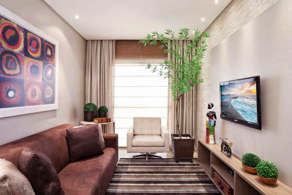 Ideas para aprovechar el espacio en una sala peque a for Salas muy pequenas